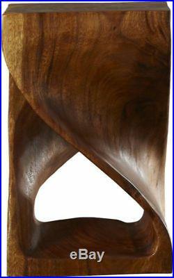 Modern End Table Unique Accent Twist Design Living Room Bed Side Wood Furniture