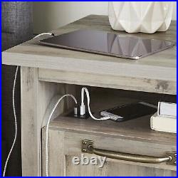 Modern Farmhouse USB Nightstand Bedside Couch Side End Table