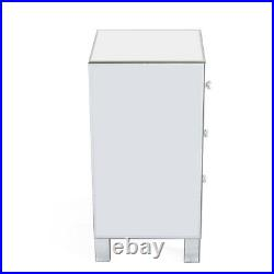 Modern Mirrored Nightstand Bedside Table End Side Table Accent Chest with Drawers