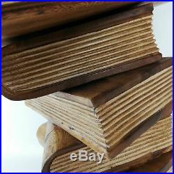 NEW Solid Hardwood Side Corner Bedside Table Plant Stand Natrual Rustic Finished