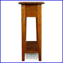 Narrow End Table Side Accent Mission Farmhouse Style Bedside Chairside Storage