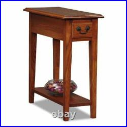 Narrow End Table Small Side Accent Bedside Chairside Storage Colonial Farmhouse