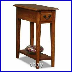 Narrow End Table Small Side Accent Colonial Farmhouse Bedside Chairside Storage