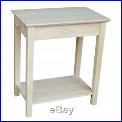 Narrow Side Table For Small Spaces End Tables Bedside Night Stand Accent Wood