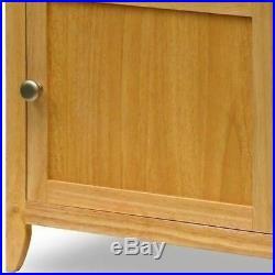 Natural Nightstand Bedside Table 1 Door End Side Storage Shelf Bedroom Furniture