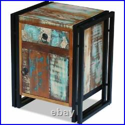 New Solid Reclaimed Wood Bedside Side Cabinet Nightstand Telephone Stand