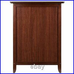 Nightstand Bedside Table Drawer End Side Storage Shelf Bedroom Furniture Walnut