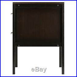 Nightstand Drawer Bed Side End Lamp Table Elegant Modern Wood Bedroom Furniture