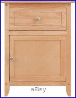 Oak Nightstand Bedside Table Drawer End Side Storage Shelf Bedroom Furniture
