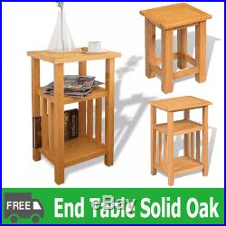 Oak Sofa Side Coffee Book Table Living Room Bedside Lamp End Console Stand Unit