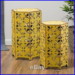 Outdoor Antique Side Accent Bedside Deck Table Set Patio Furniture Stand Decor