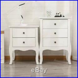 PRE-SALE 3 Drawers Nightstand End Table Bedroom Storage Hard Wood Side Bedside