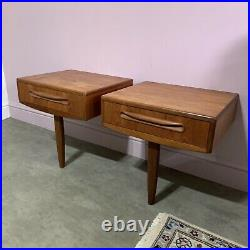 Pair Of G Plan Bedside Lamp Side Tables Teak Mid Century Modern