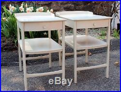 Pair Swedish Bodafors Carl Malmsten Vintage Bed Side End Occasional Tables
