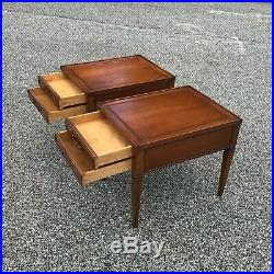 Pair mid century side tables by HEKMAN end accent bedside table nightstands