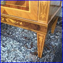 Pair of Italian Neoclassic Style 3 Drawer Bedside Chests or Side Tables