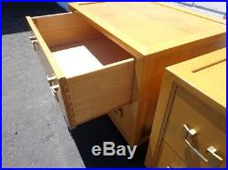 Pair of Nightstands Bedside Tables Wood Ray See Accent End Side Table Hollywood