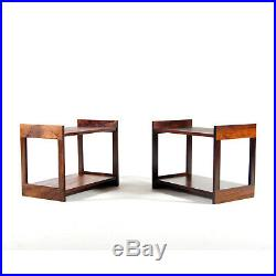 Pair of Retro Vintage Danish Rosewood Bedside Side Plant Tables Cabinets 60s 70s