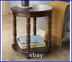 Round End Table Side Sofa Lamp Bedside Accent Living Rm Vintage Display