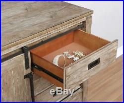 Rustic 4 Pc Pine Barn Finish Side Storage King Bed Ns Dresser Bedroom Furniture