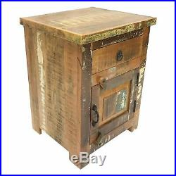 Rustic Reclaimed Wood Nightstand Bedside End / Side Table 18 L x 16 W x 24 H