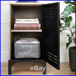 Rustic Stylish 1-Door Nightstand Bed Side Table Display Storage Shelf Furniture