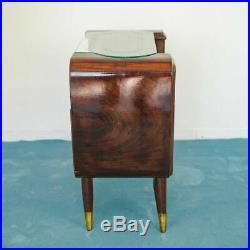 Set 2 Borsani Wooden Bedside Tables Vintage 50's Design