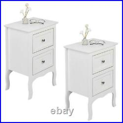 Set Of 2 Nightstand Bedside End Table Bedroom Side Stand Accent Storage 2 Drawer