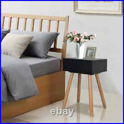 Set of 2 Wood End Side Bedside Cabinet Table Nightstand Bedroom Decor with Drawer
