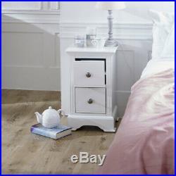 Slim White Bedside Table Davenport White Range small side bedroom furniture