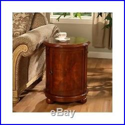 Small End Table Drum Bed Side Accent Round Storage Chest Unique Office Furniture Side Bedside Tableside Bedside Table
