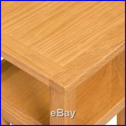 Small Wooden Side Table Bedside Solid Sofa Table Nightstand Book Magazine Rack