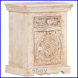 Solid Mango Wood Bedside Cabinet End Side Table Night Stand Bedroom Storage