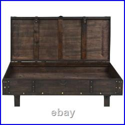 Solid Wood Coffee Table Vintage Style 47.2 Living Room Tea Side Stand Furniture
