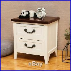 Solid wood Nightstand Accent End Side Bedside Table Bedroom Living Room