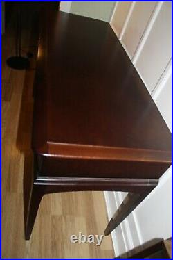 Stag Minstrel Console-dressing Table Desk Side 3 Drawers Table Top Glass Cover
