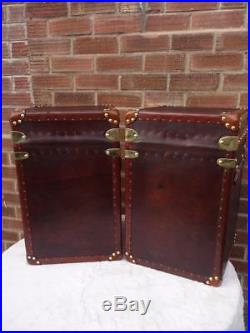 Stunning Pair Or Re-production Leather Mini Cubes Bed Side End Coffee Tables