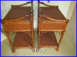 Tommy Bahama Island Style Bed Side Tables Allegro Set of 2