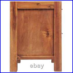 US Solid Acacia Wood Bedside Tables Cabinet Bedroom Stand Side Table Nightstands