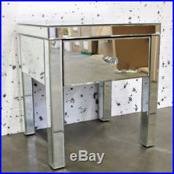 VENETIAN Mirrored Mirror Bedside Bed Side Table Cabinet 1 Drawer Bedroom Cabinet