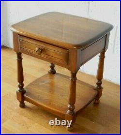VINTAGE OLD COLONIAL ELM ERCOL SIDE TABLE BEDSIDE WITH DRAWER. Postage £11.99