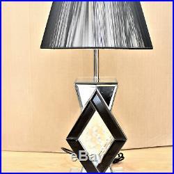 Venetian Lamp Mirrored Mirror Bed Side Bedside Table Bedroom living room Luxury