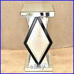 Venetian Stand Mirrored Mirror Bed Side Bedside Lamp Table Bedroom living room
