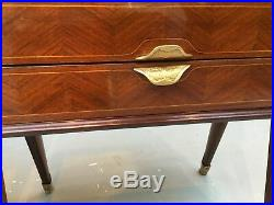 Very rare'Dassi' 1950's Italian Walnut & Satinwood Bedside Cabinets/Side Tables