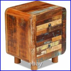 VidaXL Solid Reclaimed Wood Bedside Cabinet 2 Drawer Nightstand Side Table