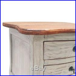 VidaXL Solid Reclaimed Wood Bedside Cabinet with 3 Drawers Nightstand Side Table