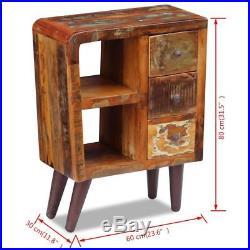 VidaXL Solid Reclaimed Wood Sideboard Side Bedside Table Nightstand 3 Drawers