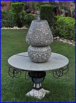 Vintage Floor Bedside Xmas Lamp Shade Lantern Large Moroccan Side Table Lamp 27