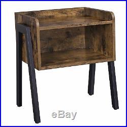 Vintage Industrial Bedside Table Bedroom Side Cabinet Rustic Stand Metal Unit