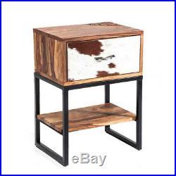 Vintage Look Industrial Furniture Bedside Night Table Side Table Nightstands